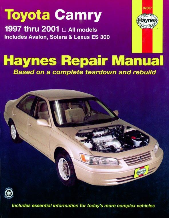 [Manuel US en Anglais] Toyota Camry, Avalon, Solara,  Lexus ES 300  '97 -  '01