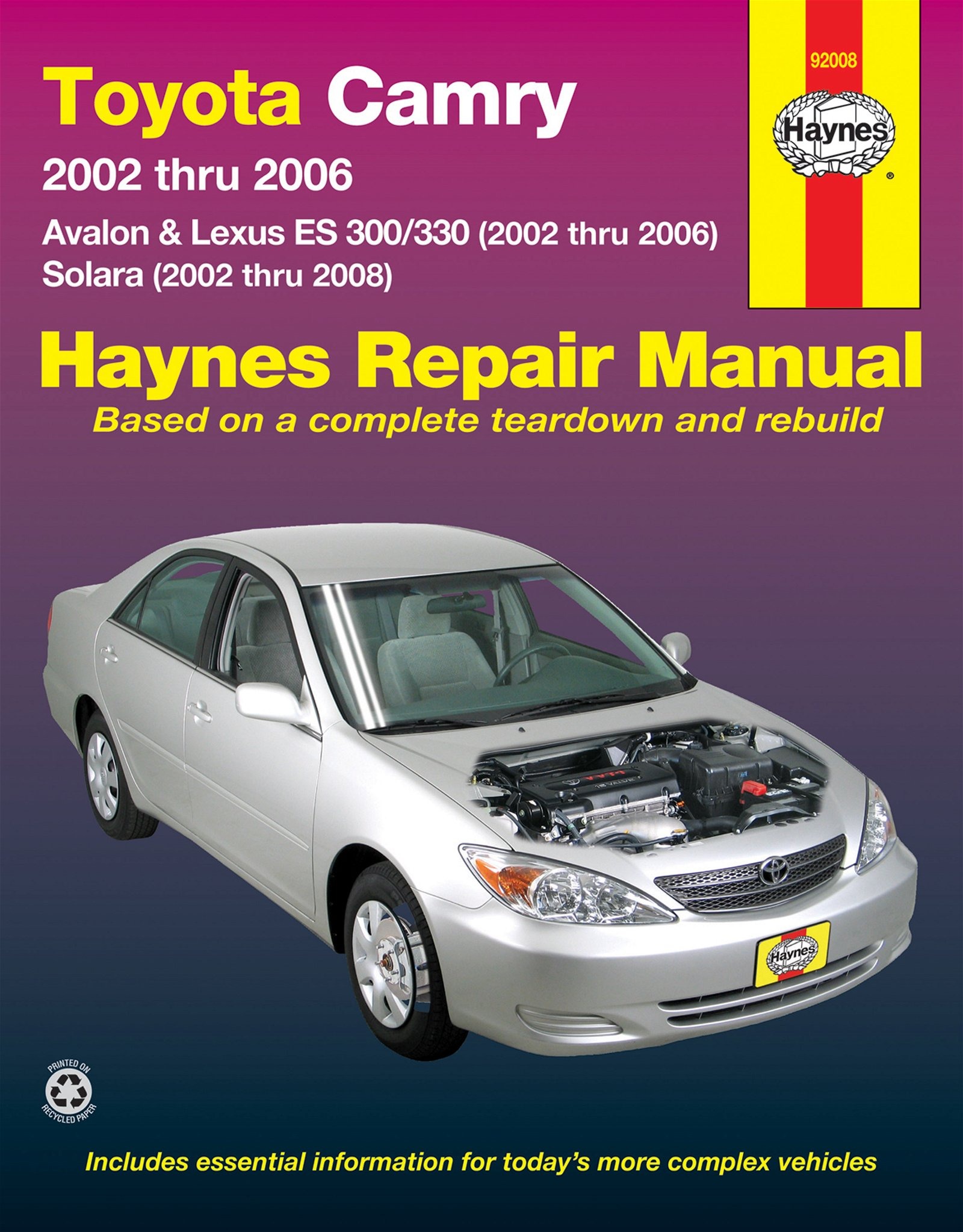 [Manuel US en Anglais] Toyota Camry, Avalon, Lexus  ES 300/330  '02 -  '06