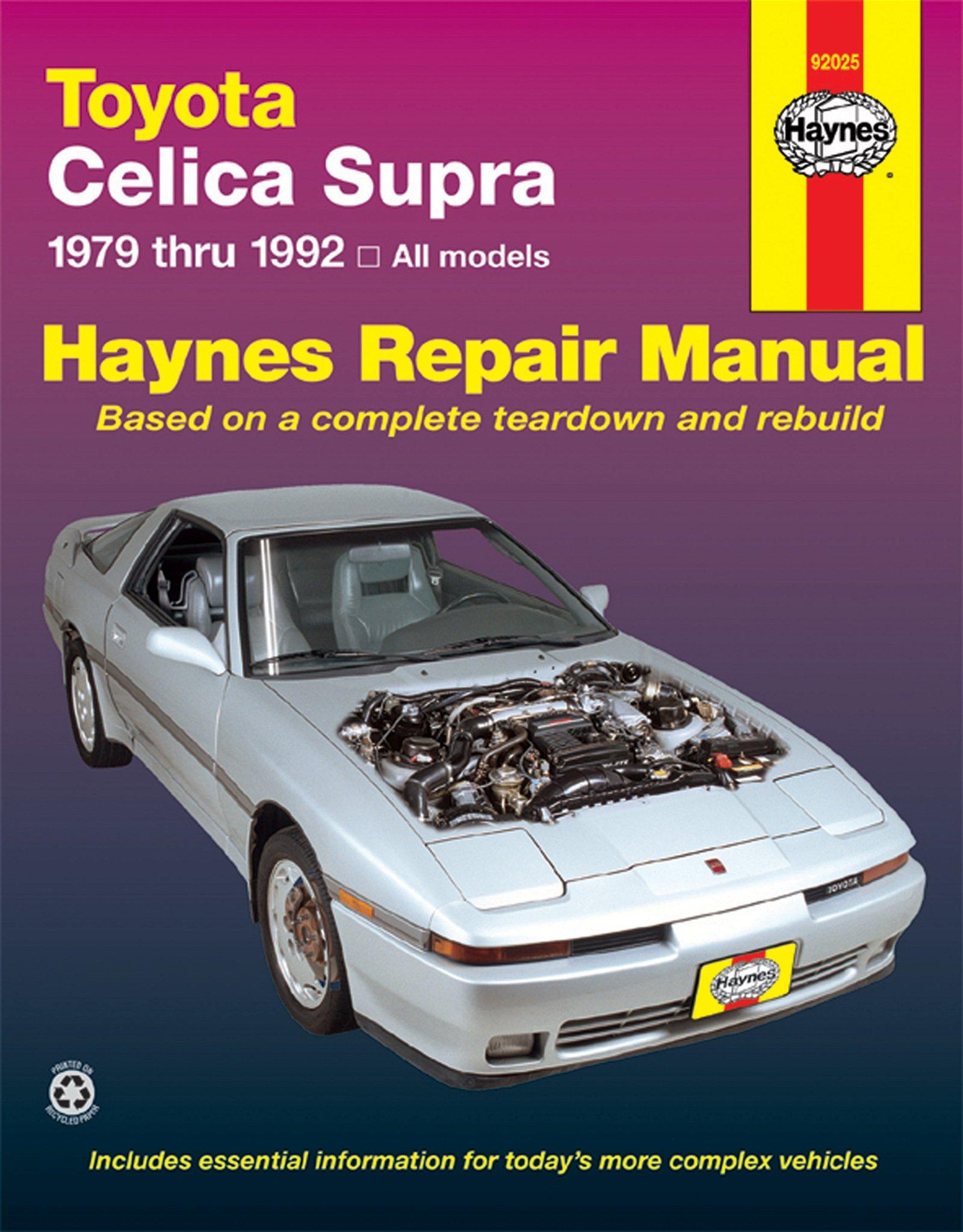 [Manuel US en Anglais] Toyota Celica Supra  '79 -  '92