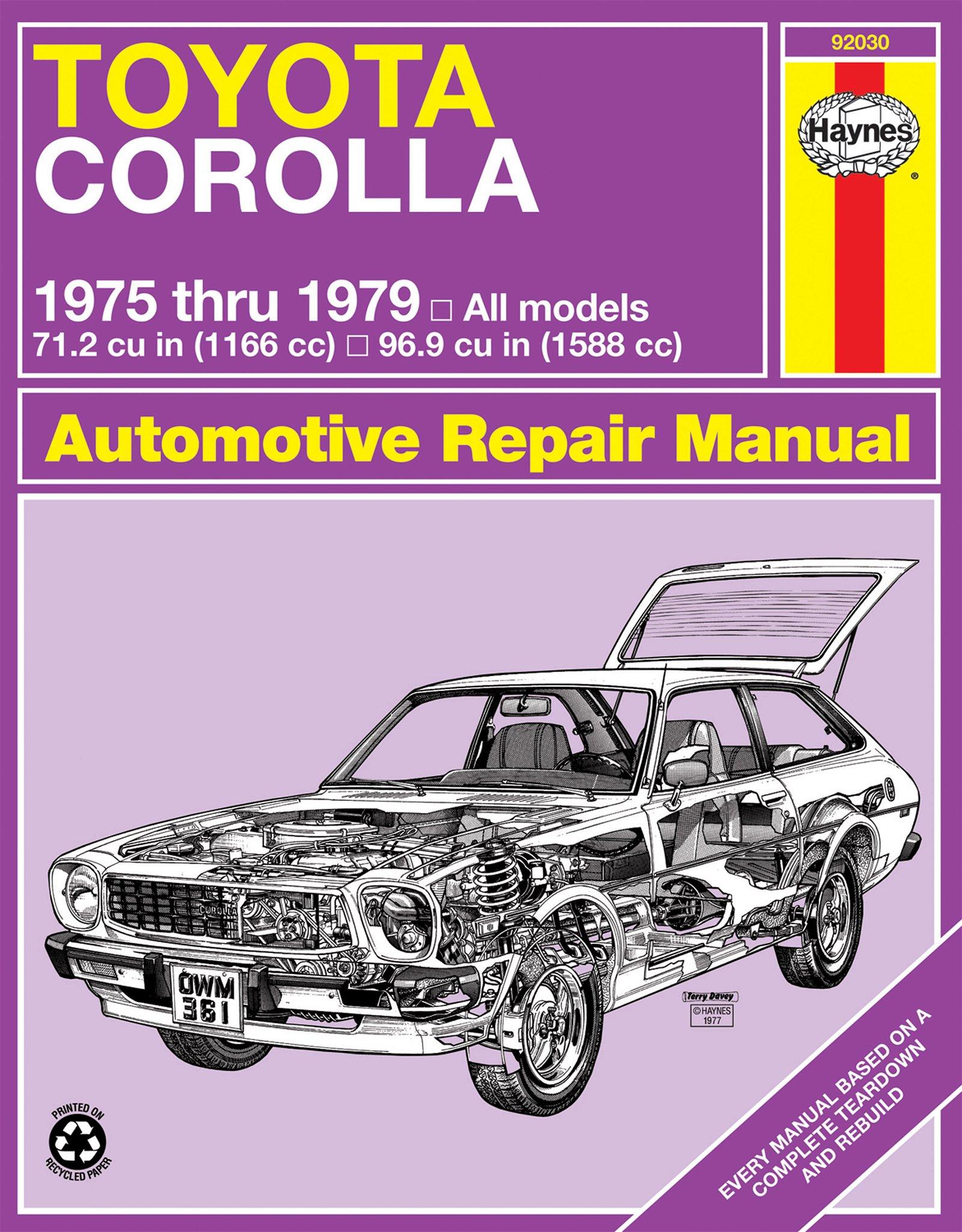 [Manuel US en Anglais] Toyota Corolla  '75 -  '79