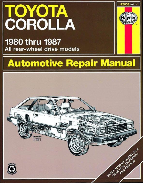 [Manuel US en Anglais] Toyota Corolla (RWD)  '80 -  '87