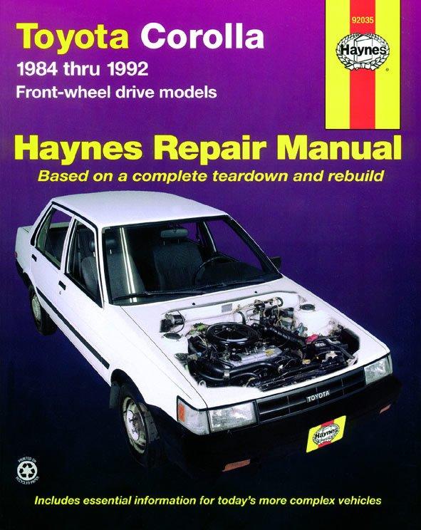 [Manuel US en Anglais] Toyota Corolla (FWD)  '84 -  '92