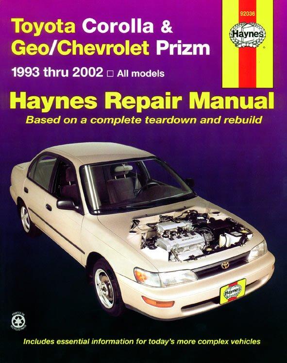 [Manuel US en Anglais] Toyota Corolla & Geo/ Chevrolet Prizm  '93 -  '02