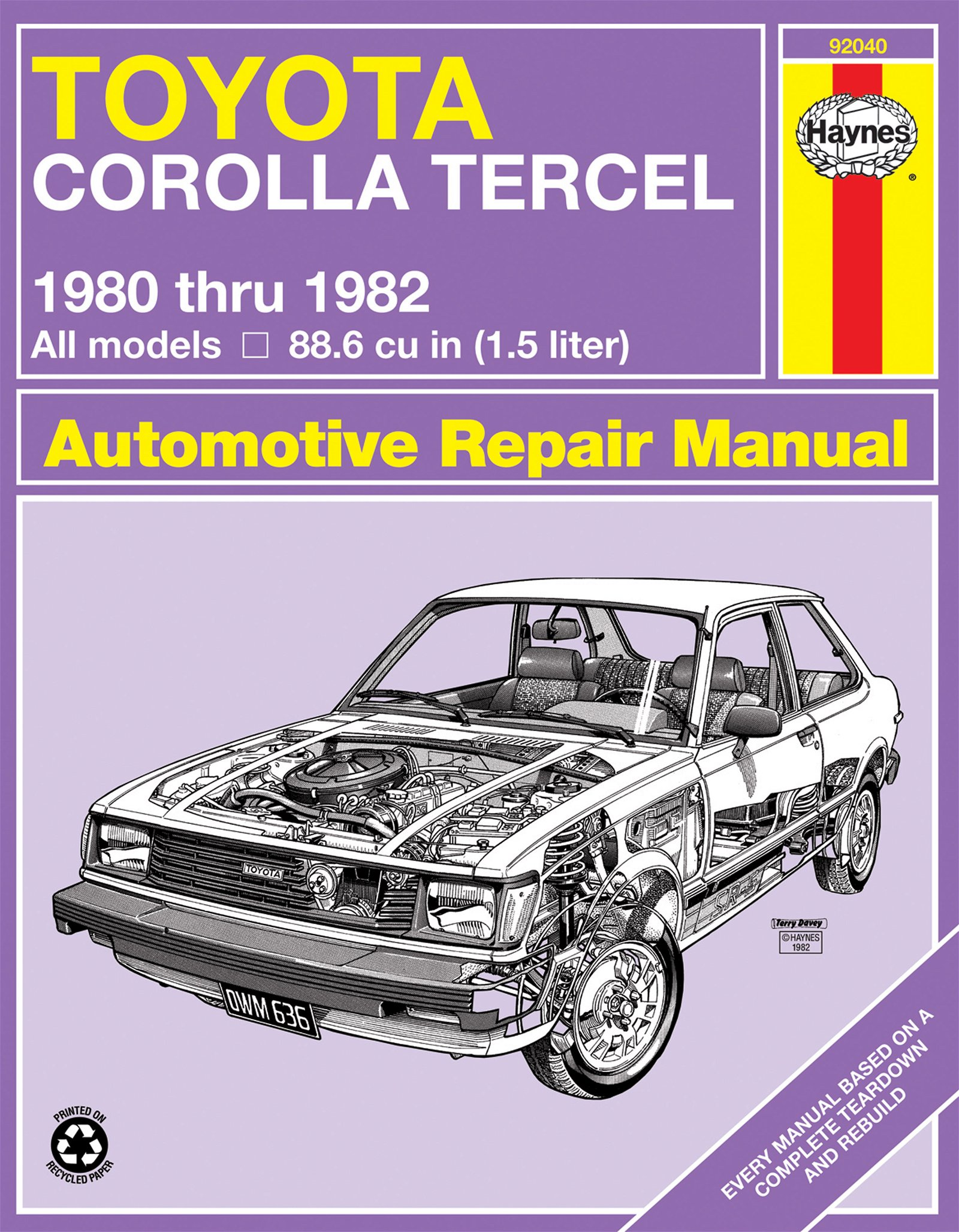 [Manuel US en Anglais] Toyota Corolla Tercel  '80 -  '82