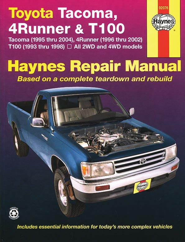 [Manuel US en Anglais] Toyota Tacoma  '95 -  '04,  4Runner  '96 -  '02, T100  '93 -  '98