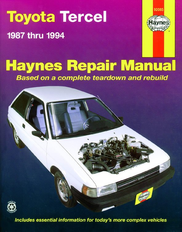[Manuel US en Anglais] Toyota Tercel  '87 -  '94
