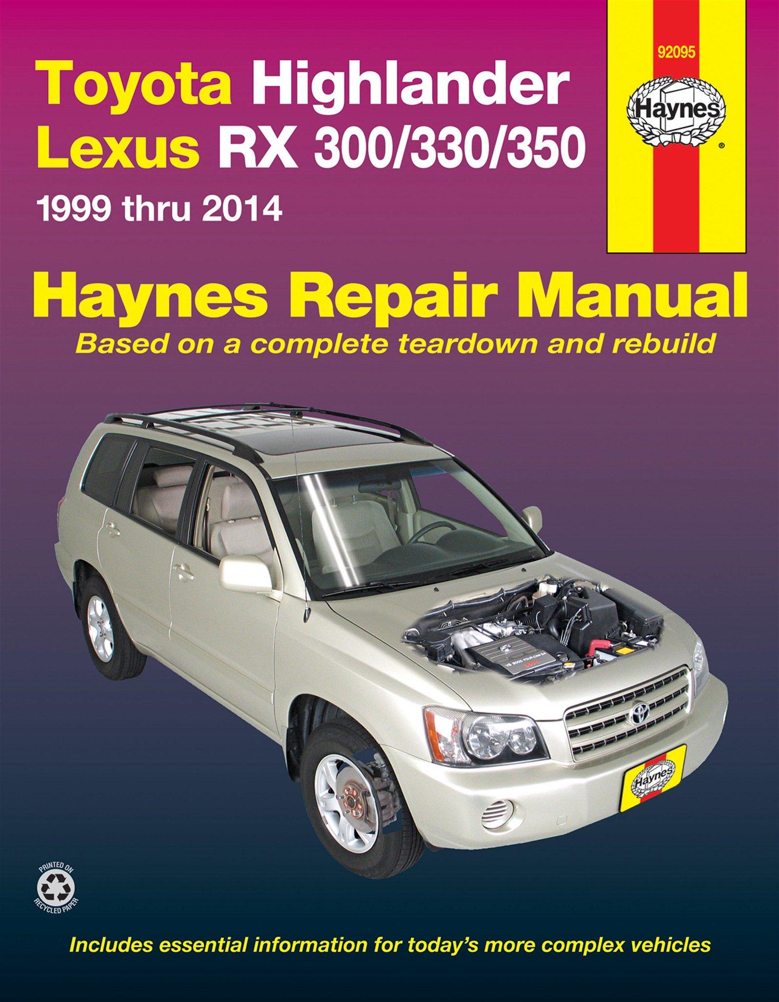 [Manuel US en Anglais] Toyota Highlander  '01 -  '14 & Lexus RX-300/330/350  '99 -  '14