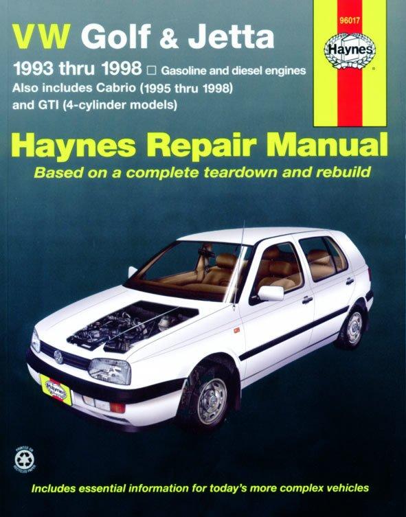 [Manuel US en Anglais] VW Golf, GTI, Jetta & Cabrio  '93 - '02