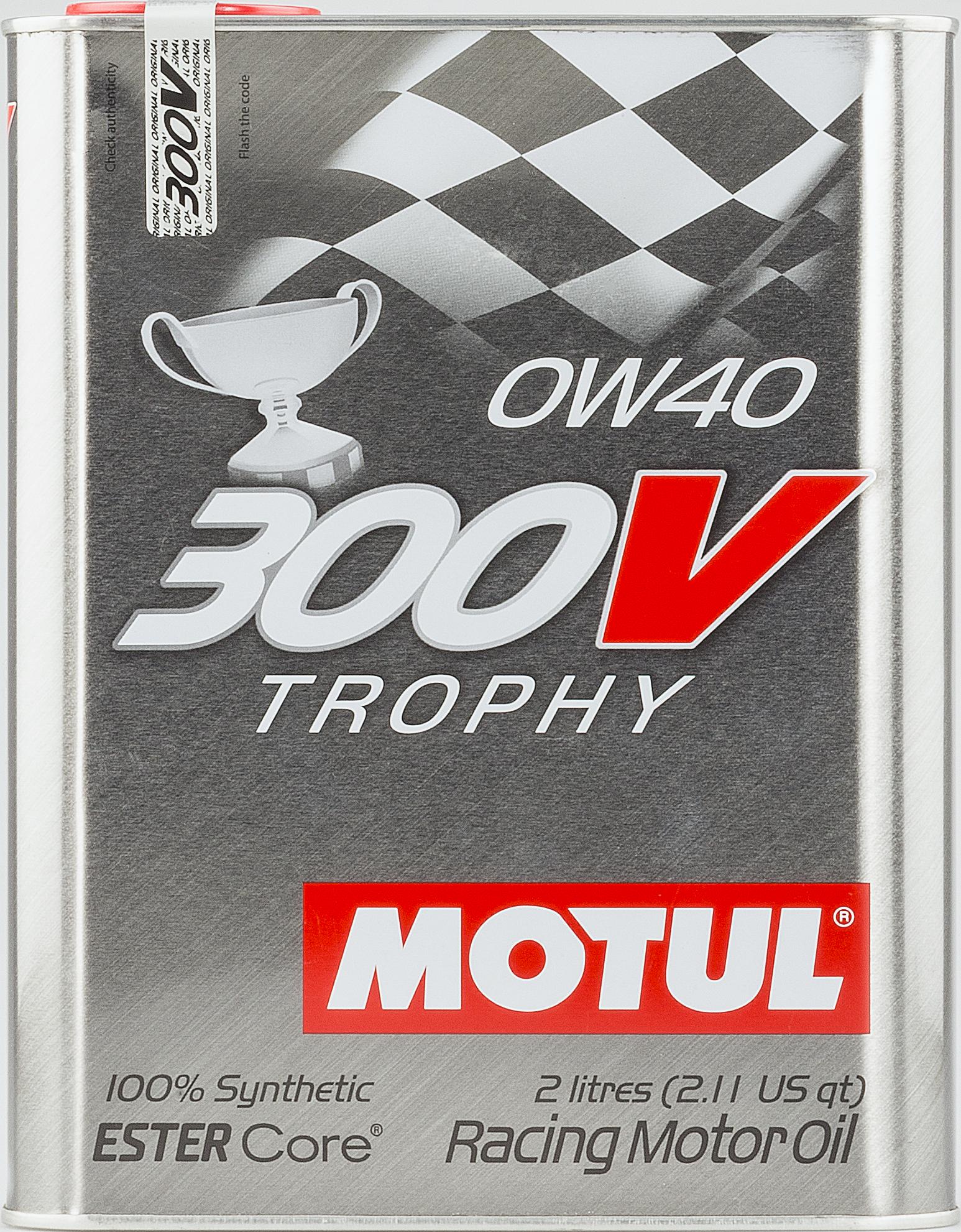 HUILE MOTEUR 300V TROPHY 0W40 2L