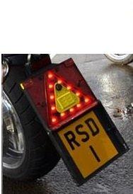 Triangle d'avertissement LED moto
