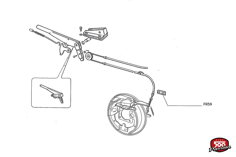 Tampons du mécanisme de frein à main (la paire)