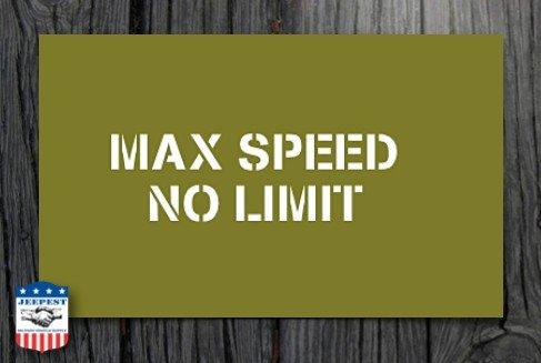 "POCHOIR ""MAX SPEED 40 MPH"" MASQUE AUTOCOLLANT NET"