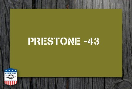 "POCHOIR ""PRESTONE 43"" MASQUE AUTOCOLLANT"