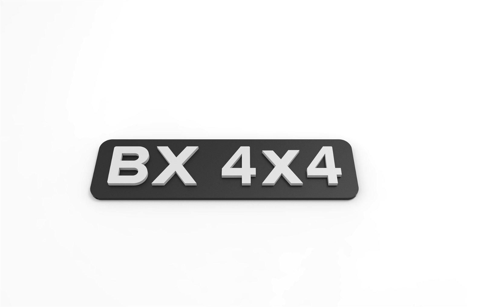 Monogramme 4x4