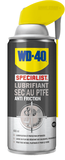 WD40 PRO Lub sec au PTFE 400ML